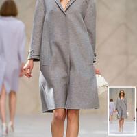 2014 Winter Women's woollen coats with dovetail Long Trench casacos femininos Overcoat  For Women Desigual Ladies' Desigual coat