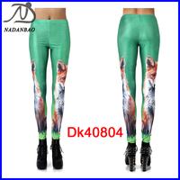 New 2014 Fashion Women Leggings With The Fox Printed Stretchy Fitness Yoga Pants Black Milk Casual Sport Leggings DK40804