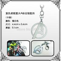 10pcs/lot Superhero The Avengers Stainless Steel Keychain Metal Figure Toy Pendant Key Ring Fashion Key chain for Men