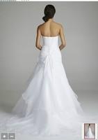 Custom Size A-Line Free shipping 2014 New Fashion wedding dress white/ivory Sweetheart Organza Bridal Gown