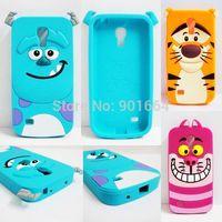 For Samsung Galaxy S4 Mini 3D Rubber Sulley Tiger Alice Cat Cell Phone Cases Cover For Samsung Galaxy S4 Mini Silicon Case i9190