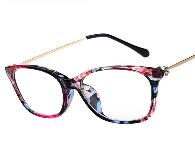 New Glasses Frames Styles 2014 : Star Style Metal Glasses For women, 2014 New Women Myopia ...