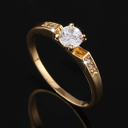 Обручальное кольцо 18k CZ J1685H