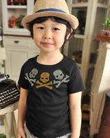 wholesale(5pcs/lot)-2015 sumer cartoon black short sleeves t-shirt for child boy