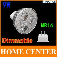 6PCS Dimmable MR16 9W 3x3W warm cold white 810LM High Power LED bulb spot lighting 60W 220V 110V 240V 15 30 45 60 90 120 degrees