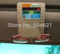 Wholesale New 10Pcs Decoration Car glasses Leather Clip Hlder Auto Eye Glasses Visor Clips Dropshipping