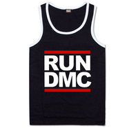 RUN DMC Tank Tops Wholesale Men's RUN DMC vest cotton sleeveless high qulaity man's tank tops Brand fashion sport undershirt