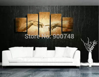 Hand Painted Oil Painting On Canvas Modern Art Hotel Home Decoration 5 Pieces Painting Free Shipping