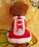 New Christmas Pet Costumes Clothing Small Cat Dog Chihuahua Yorkshire Poodle Cosplay Santa Dress Warm Winter Clothes 4 Sizes