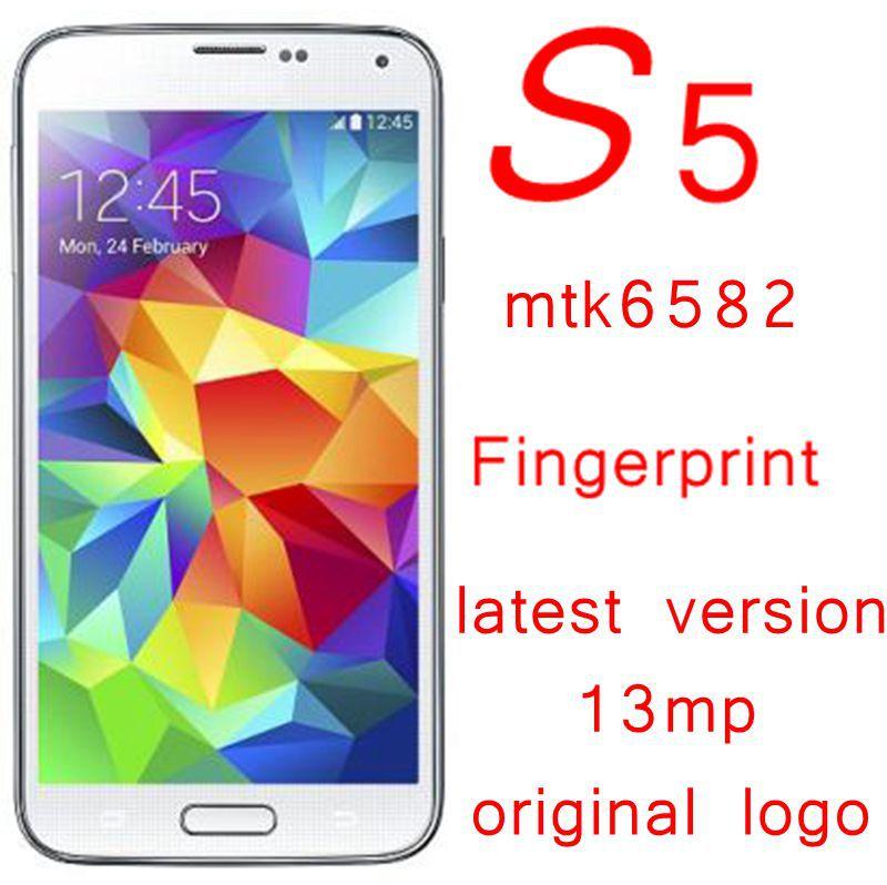 Original Logo 2GB RAM S5 i9600 Smartphone Android 4.4 MTK6592 Octa core S5 mobile phone Quad core Mtk6582 5.1inch HD IPS screen(China (Mainland))