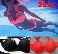 print bikinis set 2014 vintage bandage high waist swimsuit not neoprene biquini brand provocateur swimwear women push up bikini
