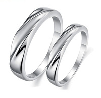 Free Shipping,Platinum Plated couple rings on the ring, jewelry cupronickel glossy couple,Couples Ring Wholesale Price