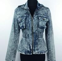 New arrive 2014 Fashion Korean female long sleeved denim jacket denim short jacket coat jacket Slim Women casual jean coats