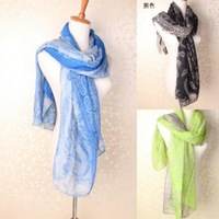 FS626 Chinese Style Blue And White Print Scarf Scarf Wholesale