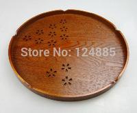 Sakura Fruit plate Dried fruit tray wood creative Japanese round Wooden pallets tea tray 51773