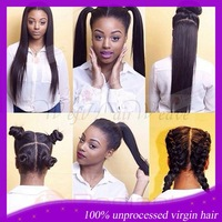 With high ponytail 130%density natural hairline silk straight color #1b peruvian virgin hair full lace wig human hair lace wigs