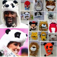 Wholesale New 2014 Winter Christmas Party Fur Animal Hats For Women Men Boys Girls Panda Cap Casual Beanies Chapeu Free Shipping