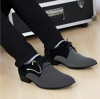 Men's Fashion Shoes Flats Men's PU Leather shoes Dress shoes BusinessShoes Size:38-44 Free Shipping,
