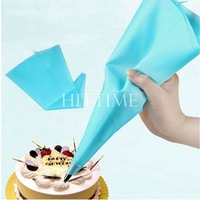 """Portable 13"""" Reusable Silicone Icing Piping Cream Pastry Bag Cake DIY Decorating Tool #58097"""