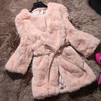 2014 Woman fashion clothes new rabbit hair long fur coat