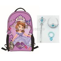 New Arrival Cartoon Strawberry Shortcake Backpacks Fairy Princess Bags Princess Bracelet Crown Magic Wand Sets