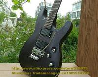 Black Rosewood Fingerboard Elm Body Maple Neck H-H 2 Pickups Floyd Rose Vibrato Tremolo 24 Frets Electric Guitar No.0019-20 FS
