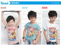 HOT!!! Lowest Boy Short Cotton Tee Shirt 30018 Children Boy Short spring/summer Tops pink Boys Blouse