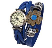 Stylish Women Fashion Watches Women Dress Watch Round Dial Waterproof Watch Quartz Watch Leather Band With A Big Flower
