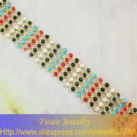 ISE01008-1 Fashion 18K gold plated Filled Wide bracelet