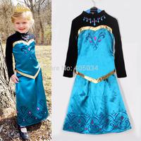 new arrival Frozen Elsa Dress Anna costume Elsa coronation dress princess queen cosplay girls dress