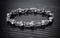 CZ  WHIE GOLD Cuff Bracelet Pulsera Reglable arany oro Armband Best GIFT Fashion JEWELRY