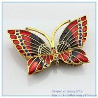 Enamel butterfly shape trinket box custom Handmade trinket box metal pewter butterfly keepsake SCJ780
