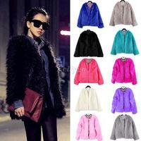New Winter Womens Warm Faux Fur Coat Women Vintage Mink Fox Jacket 10 Colors Size S M L