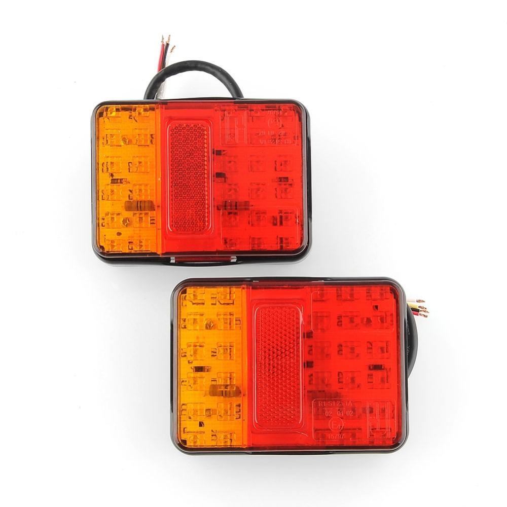 Hot new 2x 12V 30 LED Taillight Truck Car Van Lamp Tail Trailer Light E-Marked free shipping(China (Mainland))