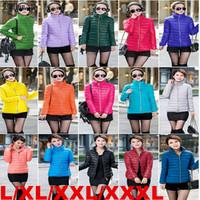 Lanluu New Popular 2014 Winter Padded Parkas Muti-color Women Short Down Cotton Coats Jacket SQ886