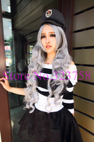 2014 New Fashion Harajuku Stylish COSPLAY woman wig Long wave wigs Heat Resistant Club Party Wig