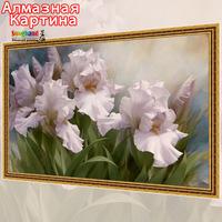 Free shipping Wholesale retail Cross Stitch DIY diamond embroidery kit Inlaid decorative painting Oil Painting Iris flower 08316