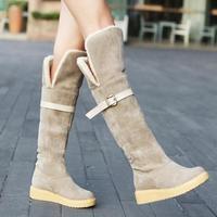 Winter Fashion Flat Heel Snow Boots Women Warm Knee High Boots Winter Shoes Footwear Botas Femininas