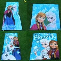 Wholesales 24 pcs/lot 100% Cotton Anna&Elsa Kids Beach Towel/Children Bath towel 73*150cm Frozen Towel