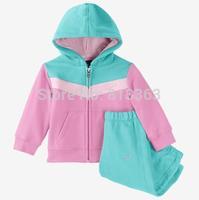 595 free shipping kids tracksuit hot sale sport suit long sleeve outerwear + pants wholesale 5sets/lot