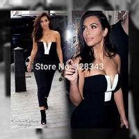 Summer Autumn New Fashion 2014 Sleeveless Black White Womens Bodycon Dresses Casual Wear kim kardashian  Vestidos