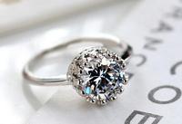 FASHHION JEWELR  USA SIZE Finger Rings Free Ship CZ Stone Wedding Ring Adjustable Size 1pcs Rings