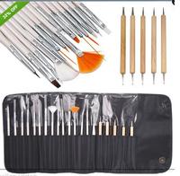 Hot 20pcs/set nail art pen brush set nail art equipment manicure tools free shipping
