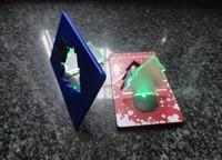 2013 New Arrival Mini LED Credit Card Light , Christmas tree Cerative Card lamp Pocket LED Light Novelty Lighting 100pcs/.lot