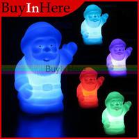 1PCS Santa Claus LED 7 Decor Color Changing Auto Colorful Light Lamp Party Night Xams Christ christmas Decoration Christmas
