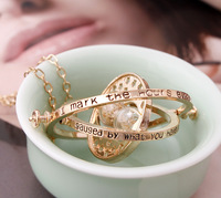 High Quality Gold Plated Harry Potter Time Turner Hermione Granger Rotating Spins Gold Hourglass Necklace 24 Pcs/lot