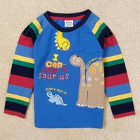 New arrival Boy's t shirt Nova fashion striped spring/autumn long sleeve t shirt for children boy 100% cotton clothes A5445