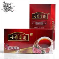 Strongly Recommend!25 Pcs QIZI YunNan Rose Flavor Pu'Er Tea Bag,Ripe Puerth,100% Authentic YunNan Tea Pu er.Health Care cha