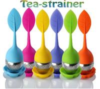 6PCS Silicone Leaf tea ball tea strainers filter strainless steel tea infuser