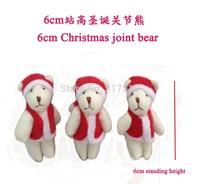 The Spot Wholesale 100pcs /lot 6CM Mini Plush Stuffed Toy Fashion Christmas Dress Bear Doll Ornaments Christmas Home Decorations